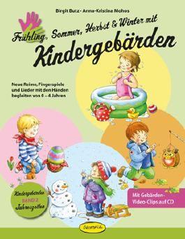 Frühling, Sommer, Herbst und Winter mit Kindergebärden