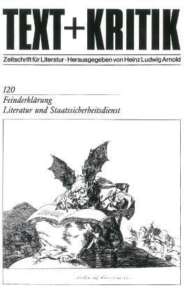 Feinderklärung - Literatur und Staatssicherheitsdienst