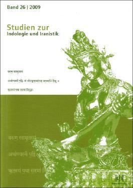 Studien zur Indologie und Iranistik, Bd. 26/2009