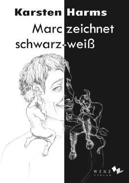 Marc zeichnet schwarz-weiß