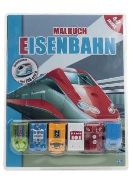"""Malbuch mit Fahrzeuge """"Eisenbahnen"""""""