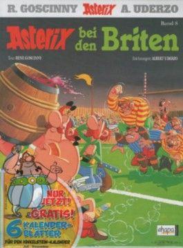 """Asterix - Asterix bei den Briten - Band Nr. 8 - Mit dem Extra """"Der Hinkelsteinkalender 2013"""" *MMXIII* Teil 2 (von 2) - Zum Aufhängen und zum Aufstellen"""