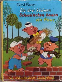 Die drei kleinen Schweinchen bauen ein Haus (Ein Schreibschrift - Bilderbuch.)