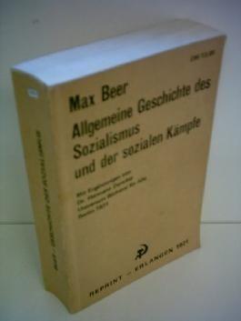 Max Beer: Allgemeine Geschichte des Sozialismus und der sozialen Kämpfe
