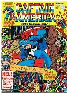 Captain America Comic Taschenbuch 11 (mit Iron Man) Condor Marvel Comics.