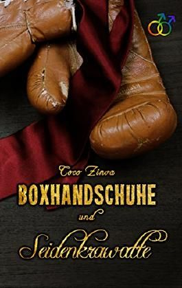 Boxhandschuhe und Seidenkrawatte