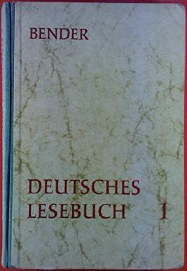 Deutsches Lesebuch. ERSTER BAND, Sexta