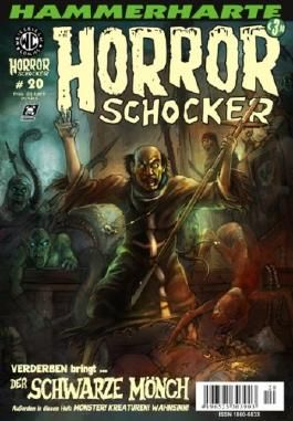Hammerharte HORROR SCHOCKER Comic # 20 - Der schwarze Mönch (Horror)