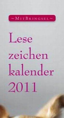 Lesezeichenkalender 2011
