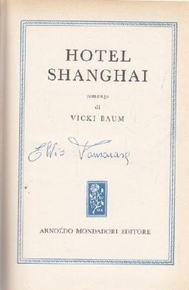 Vicky Baum: Hotel Shanghai