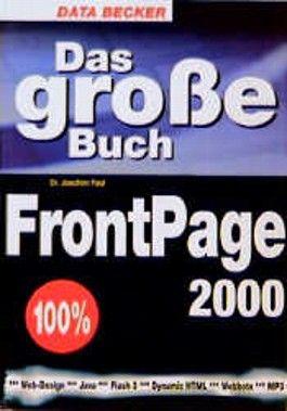 Das große Buch zu Frontpage 2000