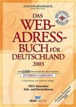 Das Web-Adressbuch für Deutschland 2003
