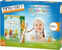 Die schönsten Kinderlieder zum Mitsingen, TING Starter-Set m. Buch u. Hörstift