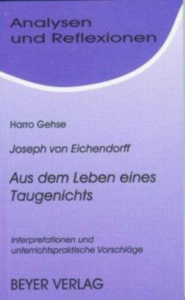 Eichendorff,Joseph von - Aus dem Leben eines Taugenichts