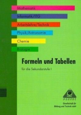 Formeln und Tabellen für die Sekundarstufe I