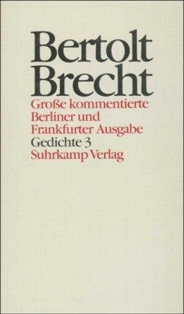 Gedichte 3. Gedichte und Gedichtfragmente 1913–1927