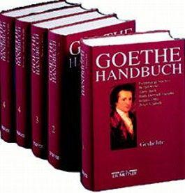 Goethe-Handbuch, 4 Bde. in 5 Tl.-Bdn. u. Reg.-Bd.