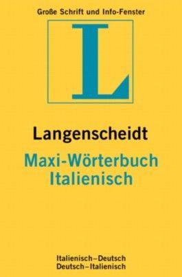 Italienisch. MAXI Wörterbuch. Langenscheidt. Neues Cover