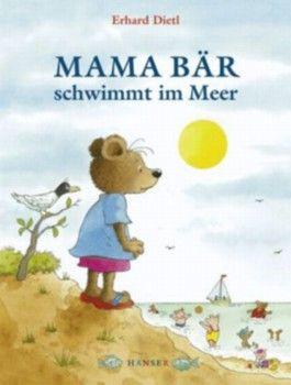 Mama Bär schwimmt im Meer