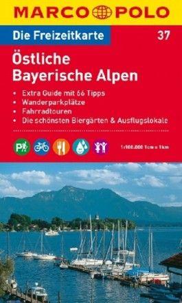 MARCO POLO Freizeitkarte Blatt 37 Östliche Bayerische Alpen 1:100 000