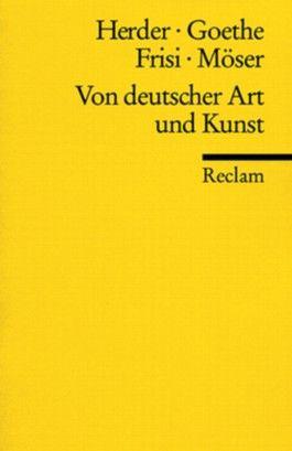 Von deutscher Art und Kunst